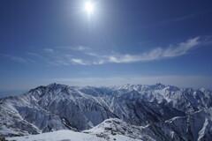 白銀の峰々