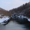 支笏湖から流れる川