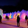氷濤祭りを訪れた人々
