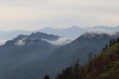 戸隠山とくも そして剱岳