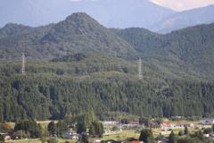 尖山とダイコン電車