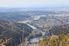 笹津橋と神通川第3ダム