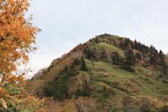 黒姫山は紅葉の始まり