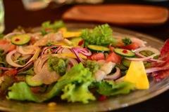 鮮魚のカルパッチョ  有機野菜添え