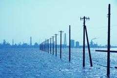青の江川海岸
