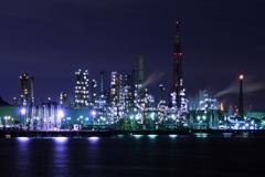 工場夜景 ①