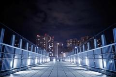 夜中の歩道橋
