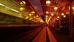 阪急嵐山駅にて…①