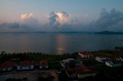 ハロン湾の朝