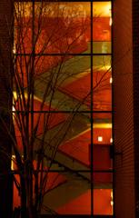 夕暮れの美術館