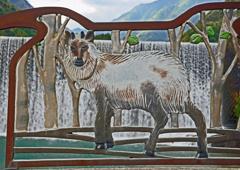 足尾探訪 ⑭ 銅橋上のカモシカの絵