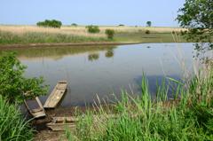 長閑な遊水地 水路