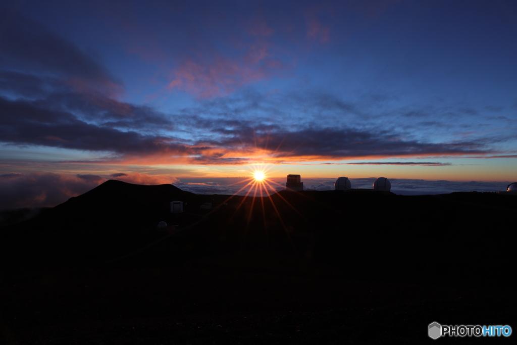 ハワイ島マウナケア山頂 Sun Set & Star