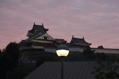 夕暮れの福知山城