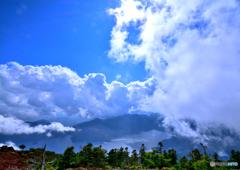 男体山頂から中禅寺湖を望む