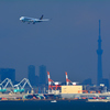 羽田空港国際線着陸前