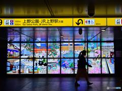 東京メトロ上野駅改札前