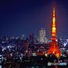 WTCからの東京タワー方面夜景