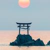 奈多海岸の夜明け