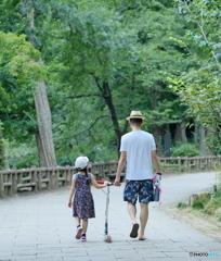 【街の情景】・親子の大切な時間・・井の頭公園にて!