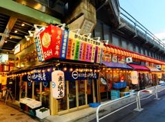 【街の情景】・日本の祭典・・(銀座地区 JRガード下にて)