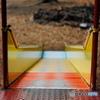 【児童公園の情景】・決断の時・・みんなのローラ滑り台!