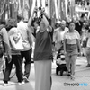 【街の情景】・七夕祭りに魅了され・・女性カメラ愛好家!