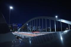 築地大橋,夜の散歩中にて