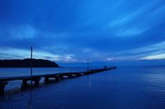 原岡桟橋,夕暮れ時2