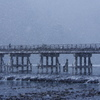 霞む渡月橋