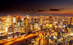 大阪の夜景はすばらしい