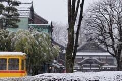 湯屋と都電と雪
