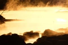 多摩川川霧