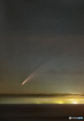 東シナ海に沈む彗星
