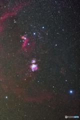 大小三ツ星 オリオン座