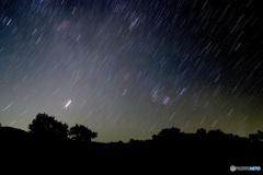 明けの明星とオリオン