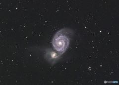 M51 子もち銀河