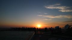 夕日に魅せられて。