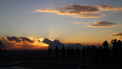 スカイデッキからの夕陽②