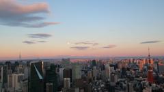 夕陽に染まる 東京の街並み