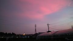 きょうの夕焼け