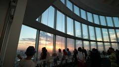 六本木ヒルズ展望台からの夕陽