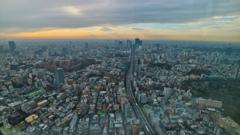 記念日の東京の街並み