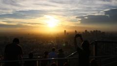 スカイデッキから見た 夕陽