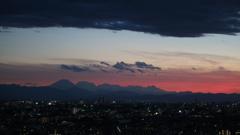 練馬区役所20F展望台から見た富士山