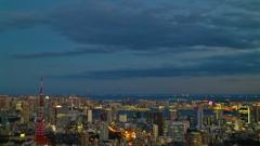 スカイデッキから見た 東京の街並み