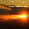 スカイデッキからみた夕陽
