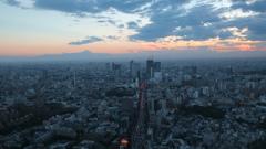 富士山の見える夕景