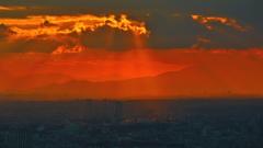 スカイデッキから見た 夕日