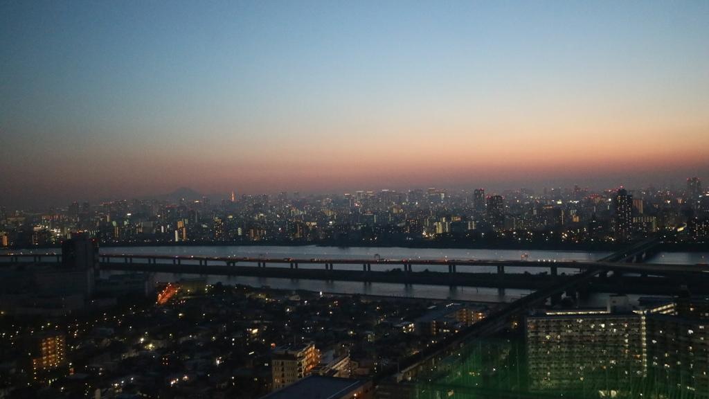 船堀タワーからの富士山